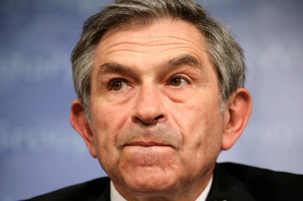 World Bank President Wolfowitz reacts during a closing news conference in Washington
